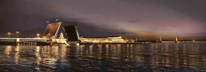 Купить фотообои для стен: Ночной Петербург 1