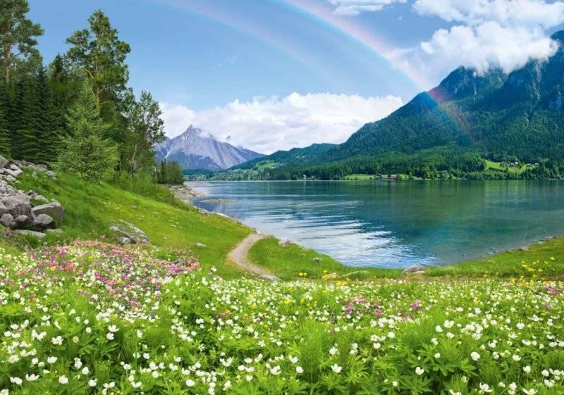 Купить фотообои для стен: Радужное озеро
