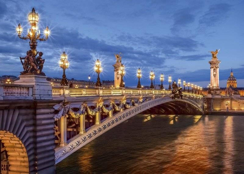 Купить фотообои для стен: Мост Александра III_
