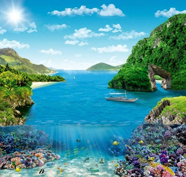 Купить фотообои для стен: Коралловый риф