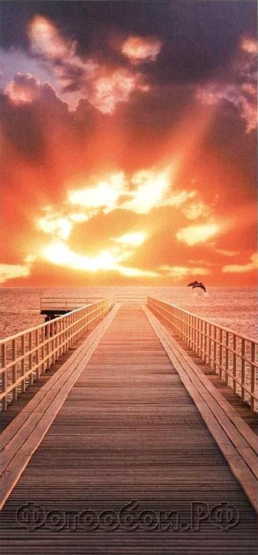 Купить фотообои для стен: Рассвет у моря