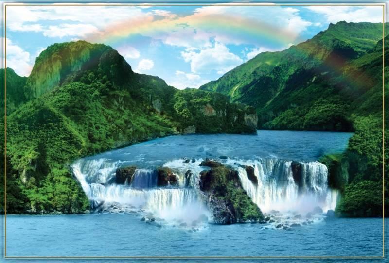 Купить фотообои для стен: Горные водопады