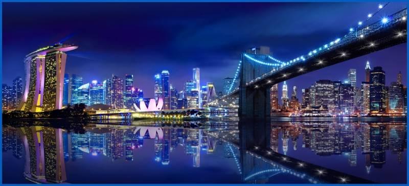 Купить фотообои для стен: Городская панорама