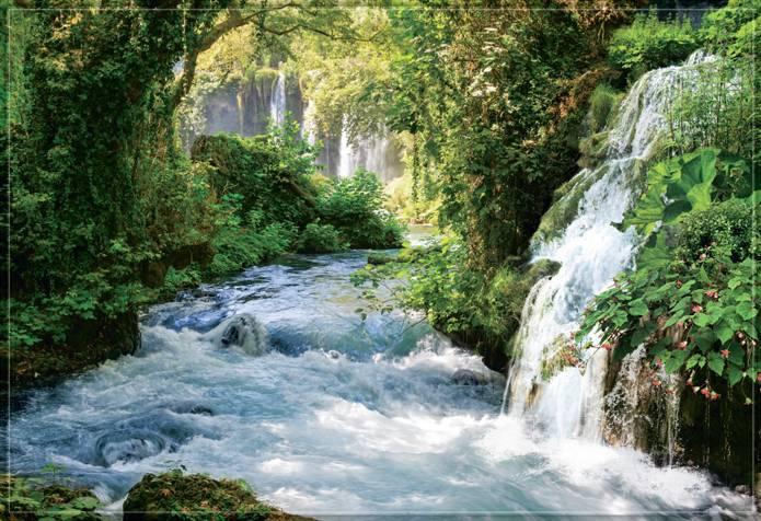 Купить фотообои для стен: Тропический водопад в джунглях