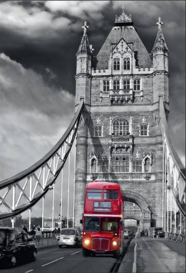 Купить фотообои для стен: Лондон, Тауэрский мост, автобус