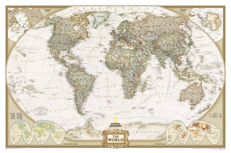 Купить фотообои для стен: Карта мира
