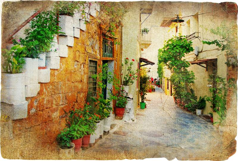 Купить фотообои для стен: Древняя улочка