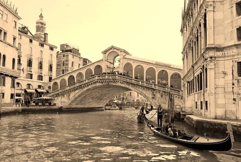 Купить фотообои для стен: Венеция, сепия
