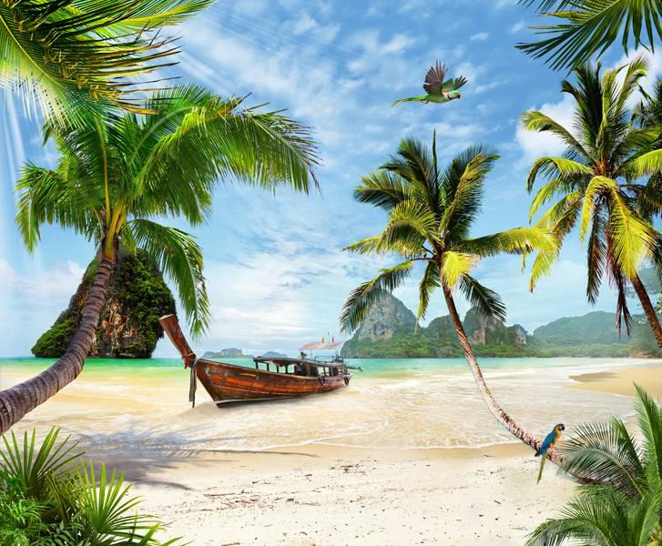 Купить фотообои для стен: Пальмовый пляж
