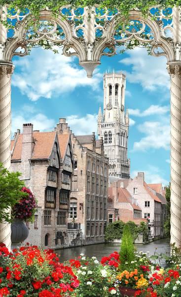 Купить фотообои для стен: Гентский канал