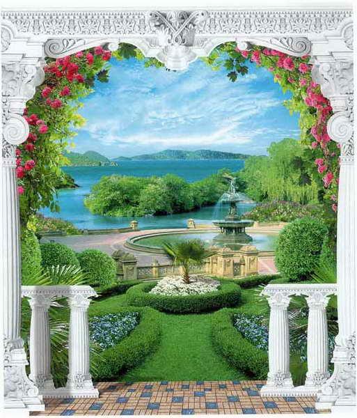 Купить фотообои для стен: Царский сад