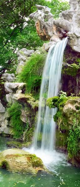 Купить фотообои для стен: Водопад в парке