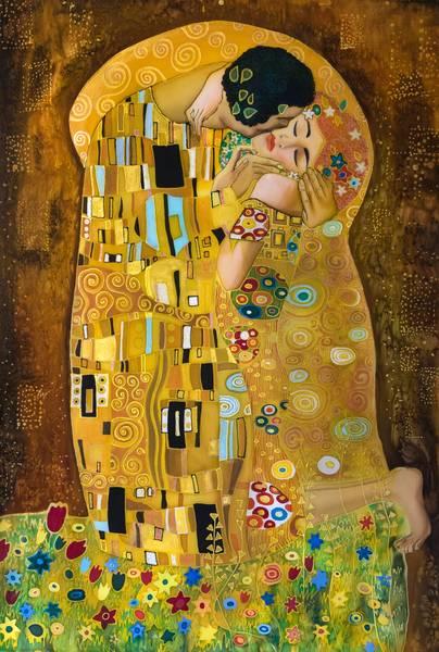 Купить фотообои для стен: Поцелуй, Густав Климт