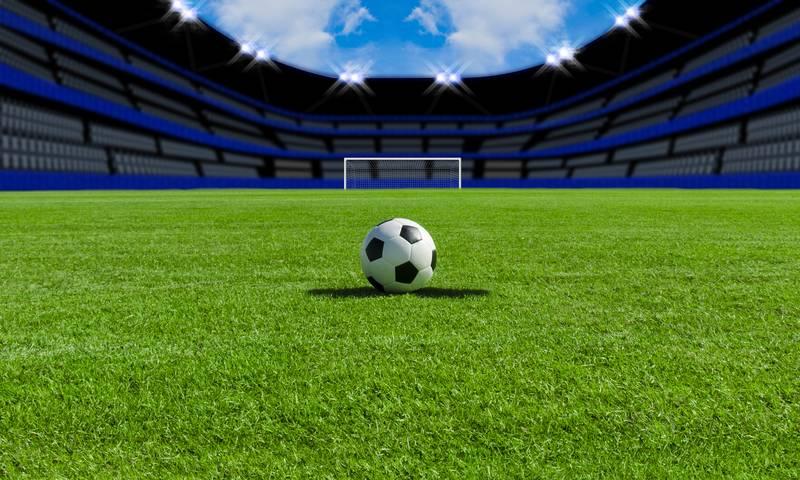 Купить фотообои для стен: Футбольное поле