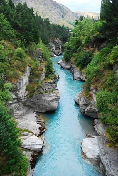 Купить фотообои для стен: Горная речка, лес