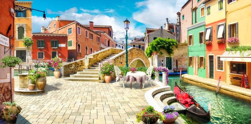 Купить фотообои для стен: Улочки Венеции