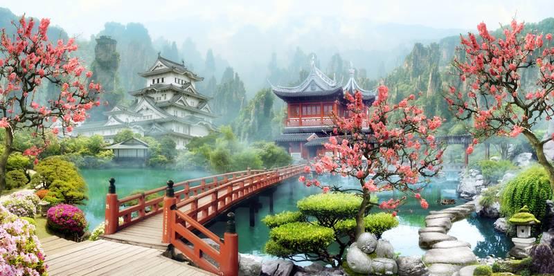 Купить фотообои для стен: Японский мотив