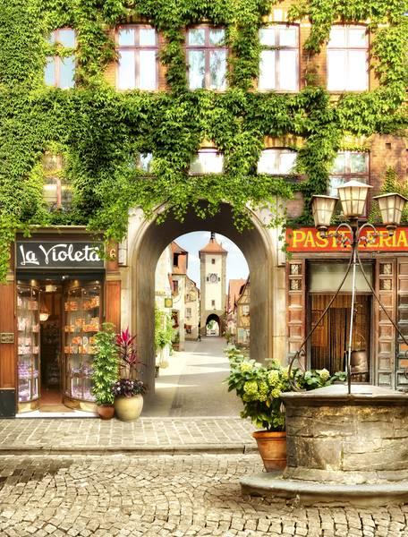 Купить фотообои для стен: Европейский дворик