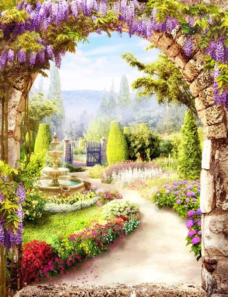 Купить фотообои для стен: Цветущий сад