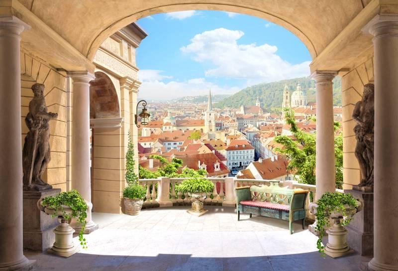 Купить фотообои для стен: На балконе