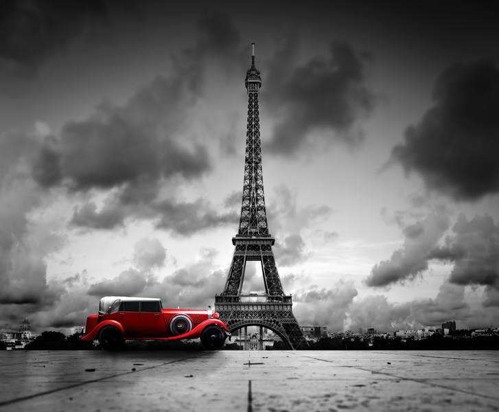 Купить фотообои для стен: Ретро-Париж