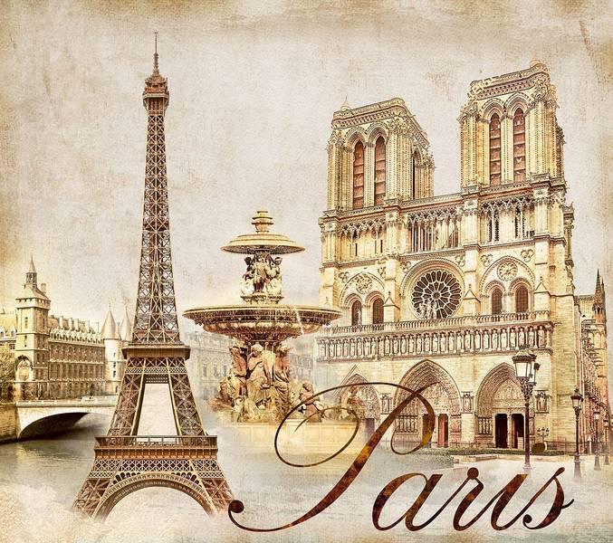 Купить фотообои для стен: Жемчужины Парижа