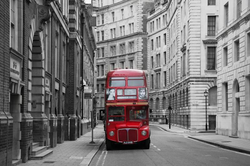 Купить фотообои для стен: Лондонский автобус
