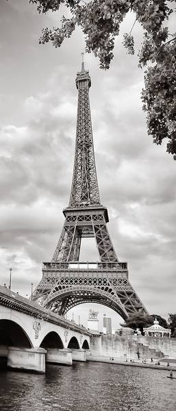 Купить фотообои для стен: Париж, Эйфелева башня ретро