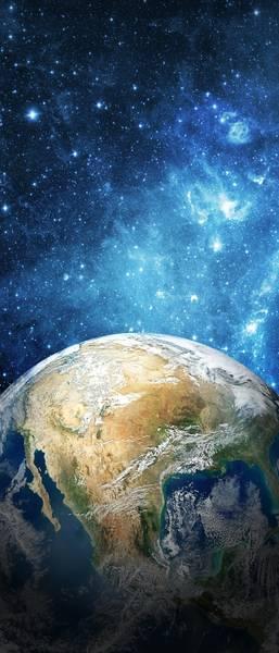 Купить фотообои для стен: Земля и космос