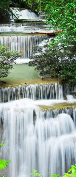 Купить фотообои для стен: Лесной водопад