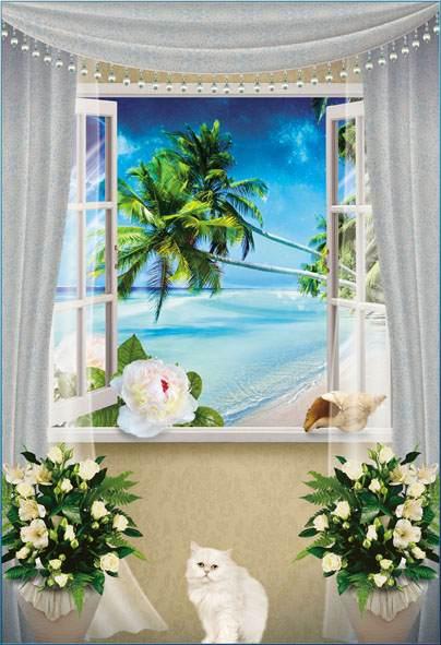 Вид из окна фотообои на стену каталог