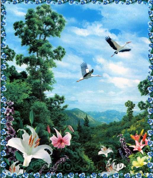 Купить фотообои для стен: Птицы счастья
