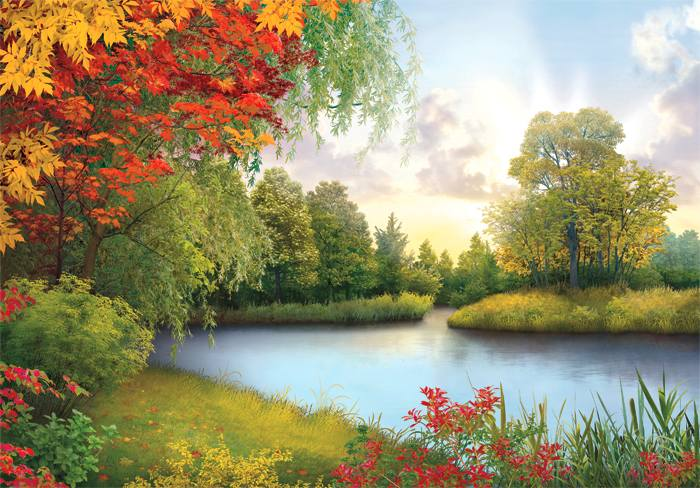 Купить фотообои для стен: Осенний блюз