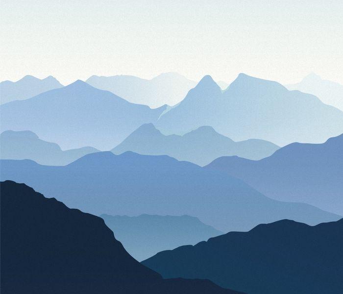 Купить фотообои для стен: Синие горы