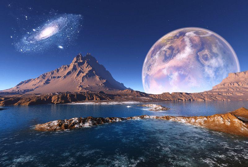 Купить фотообои для стен: Космический пейзаж