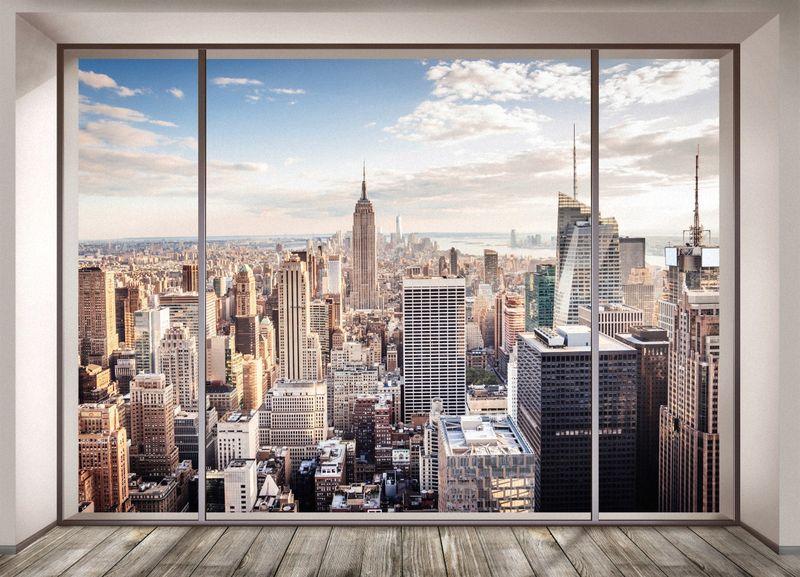 Купить фотообои для стен: Вид на Нью-Йорк