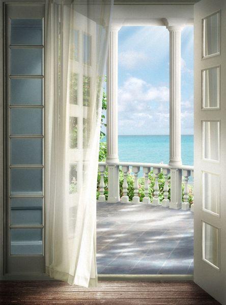 Купить фотообои для стен: Выход на балкон