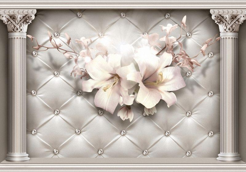 Купить фотообои для стен: Лилии на стене