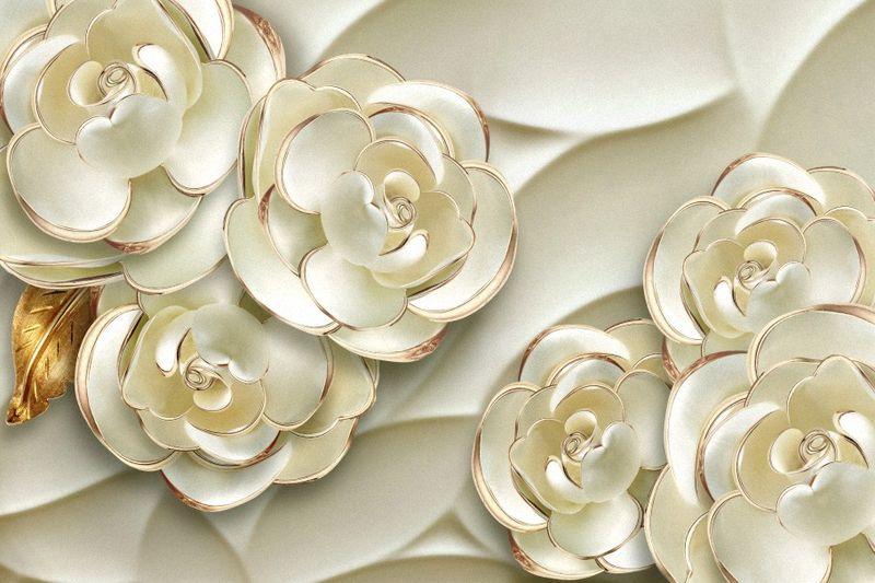 Купить фотообои для стен: Белые розы