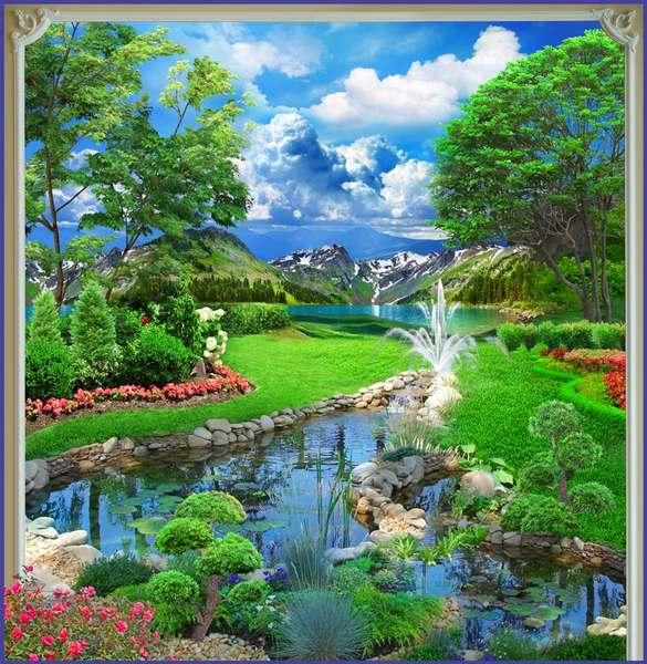 Купить фотообои для стен: Дивный сад