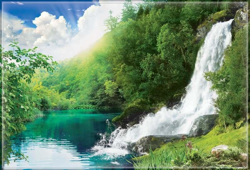 Купить фотообои для стен: Звенящие водопады