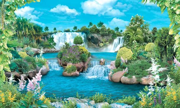 Купить фотообои для стен: Амазонские водопады