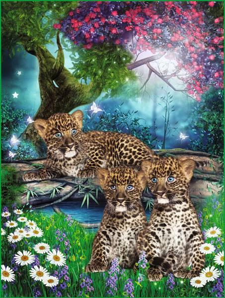 Купить фотообои для стен: Леопардики