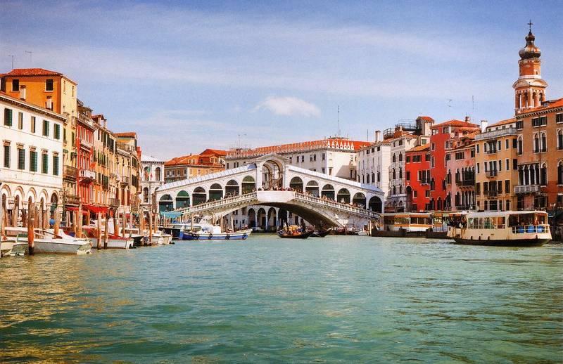 Купить фотообои для стен: Венеция, мост Риальто +