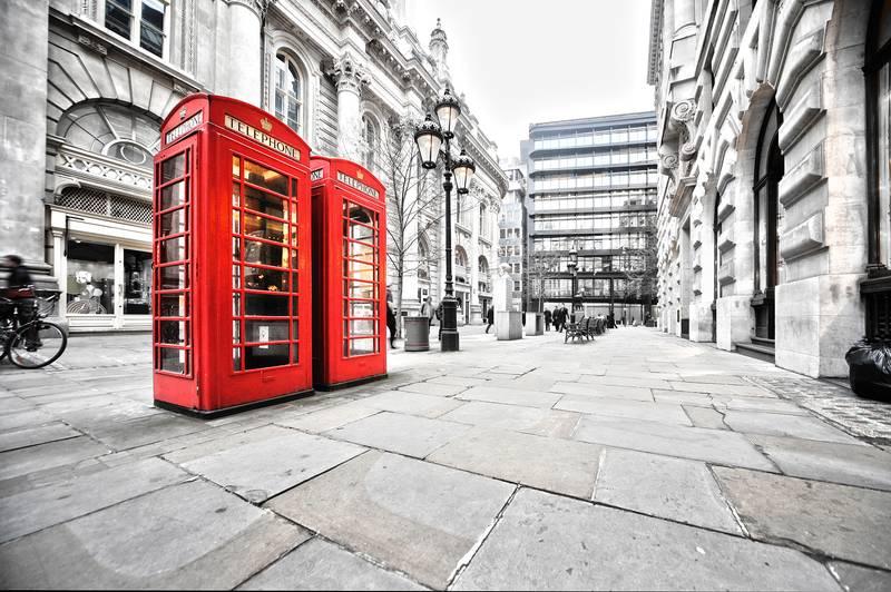 Купить фотообои для стен: Улочки Лондона