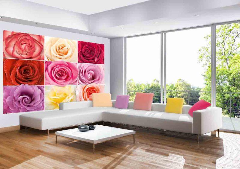 Разноцветное настроение - фотообои в интерьере
