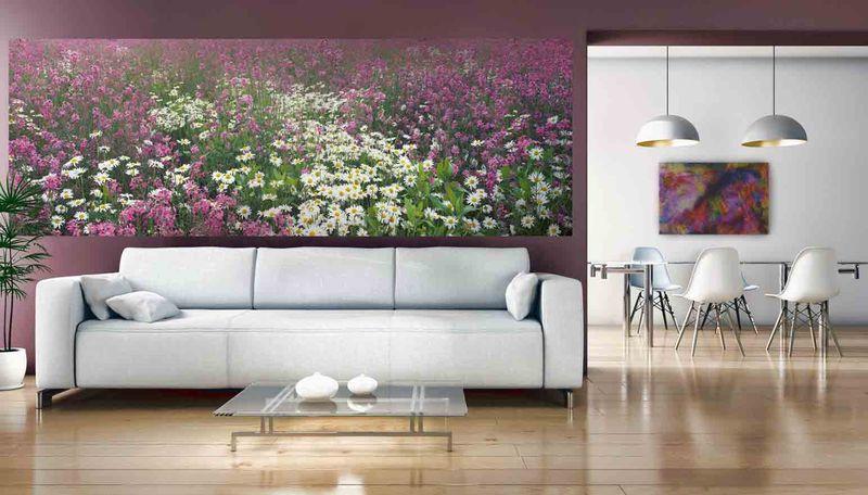 Поляна цветов - фотообои в интерьере