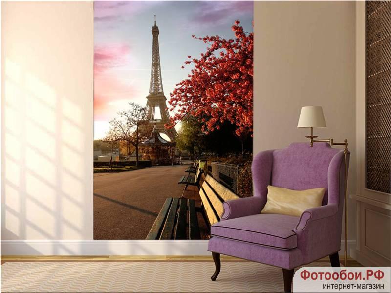 Фотообои в интерьере для кухни: фотообои Париж, города, Эйфелева башня, под заказ, для спальни, на стену