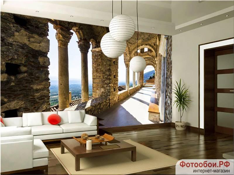 Замок в Греции - фотообои в интерьере