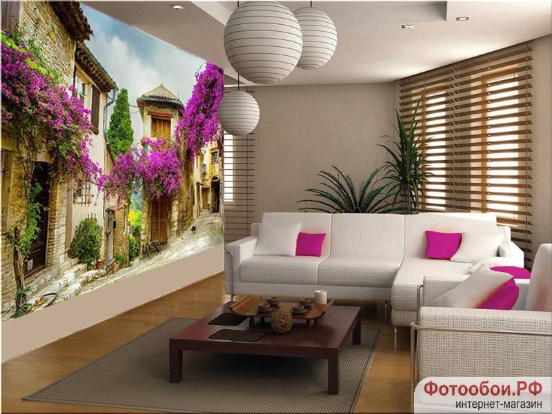 Фотообои в интерьере для кухни: фотообои прованс, древние улочки, расширяющие пространство, улочки, фрески, в гостиную
